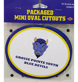 Beistle Grosse Pointe South Oval Cutouts - 6ct.