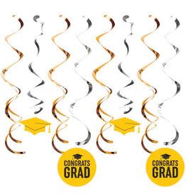 creative converting Yellow Grad Danglers - 8 ct