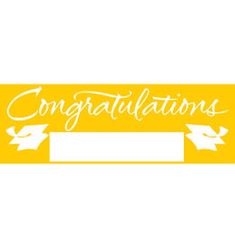 creative converting Yellow Grad Giant Party Banner - 5ft.