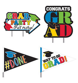 Amscan Congrats Grad Yard Decorations - 4ct.