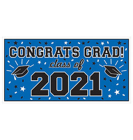 Amscan Blue Class of '21 Banner - Over 5' Long