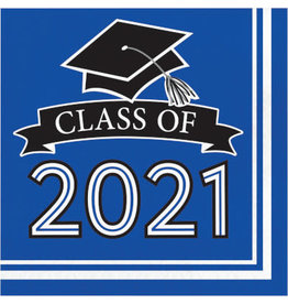 creative converting Blue Class of 2021 Lunch Napkins - 36ct.