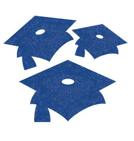 creative converting Blue Grad Mini Glitter Cutouts - 12ct.