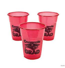Oriental Trading Red 20oz. Grad Plastic Cups - 25ct.