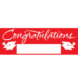 """creative converting Red Grad Fill-In Party Banner, 60"""" x 20"""