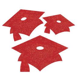 creative converting Red Grad Mini Glitter Cutouts - 12ct.