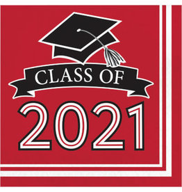 creative converting Red Class of '21 Lunch Napkins - 36ct.