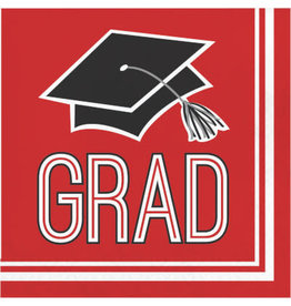 creative converting Red Grad Lunch Napkins - 36ct.