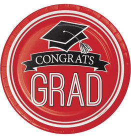 """creative converting Red Grad 7"""" Plate - 18ct."""