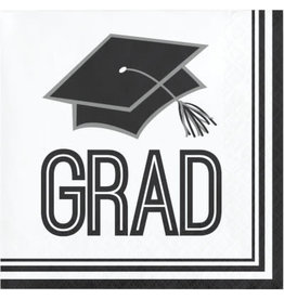 creative converting White Grad Bev Napkins - 36ct.