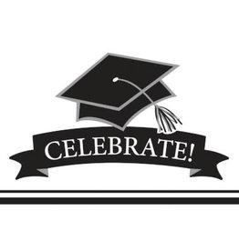 creative converting White Grad Invites - 25ct.