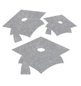 creative converting Silver Grad Mini Glitter Cutouts - 12ct.