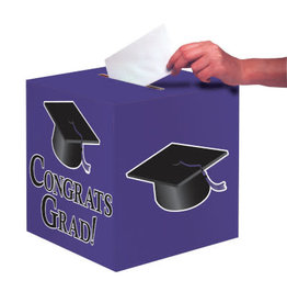 "creative converting Purple Grad Card Box - 9"" x 9"""