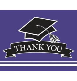 creative converting Purple Grad Thank Yous - 25ct.