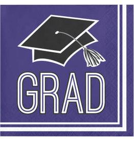 creative converting Purple Grad Bev Napkins - 36ct.