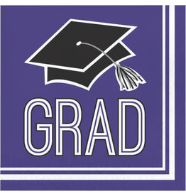 creative converting Purple Grad Lunch Napkins - 36ct.