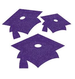 creative converting Purple Grad Mini Glitter Cutouts - 12ct.