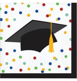 creative converting Colorful Grad Bev. Napkins - 16ct.