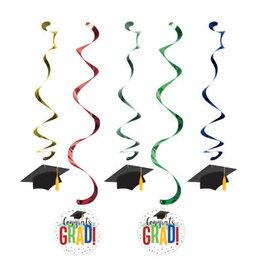 creative converting Colorful Grad Dizzy Danglers - 5ct.