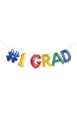 creative converting #1 Grad Balloon Banner - 8ft.