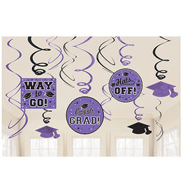 Amscan Purple Grad Swirls - 12ct.