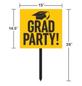 creative converting Yellow Grad Lawn Sign