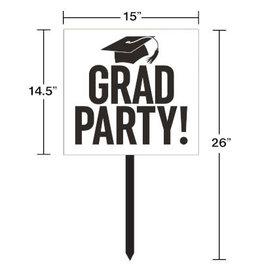 creative converting White Grad Lawn Sign