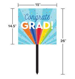 creative converting Rainbow Grad Lawn Sign