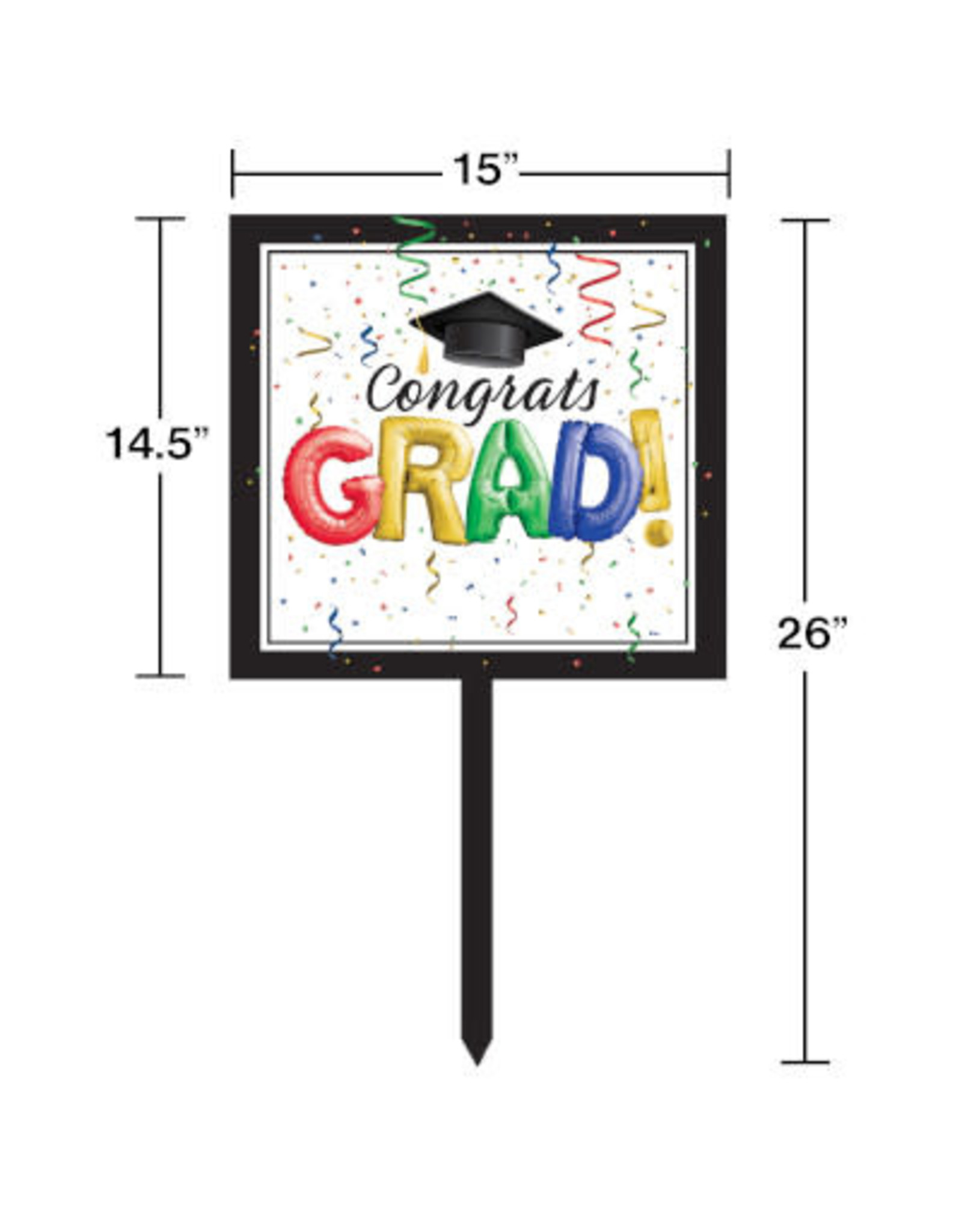 creative converting #1 Grad Lawn Sign
