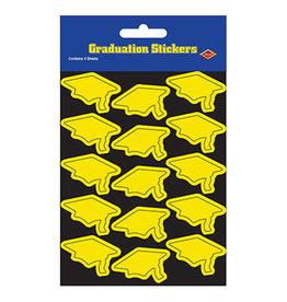 Beistle Yellow Grad Cap Stickers - 60ct.