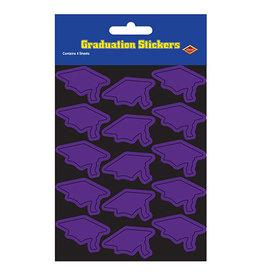 Beistle Purple Grad Cap Stickers - 60ct.