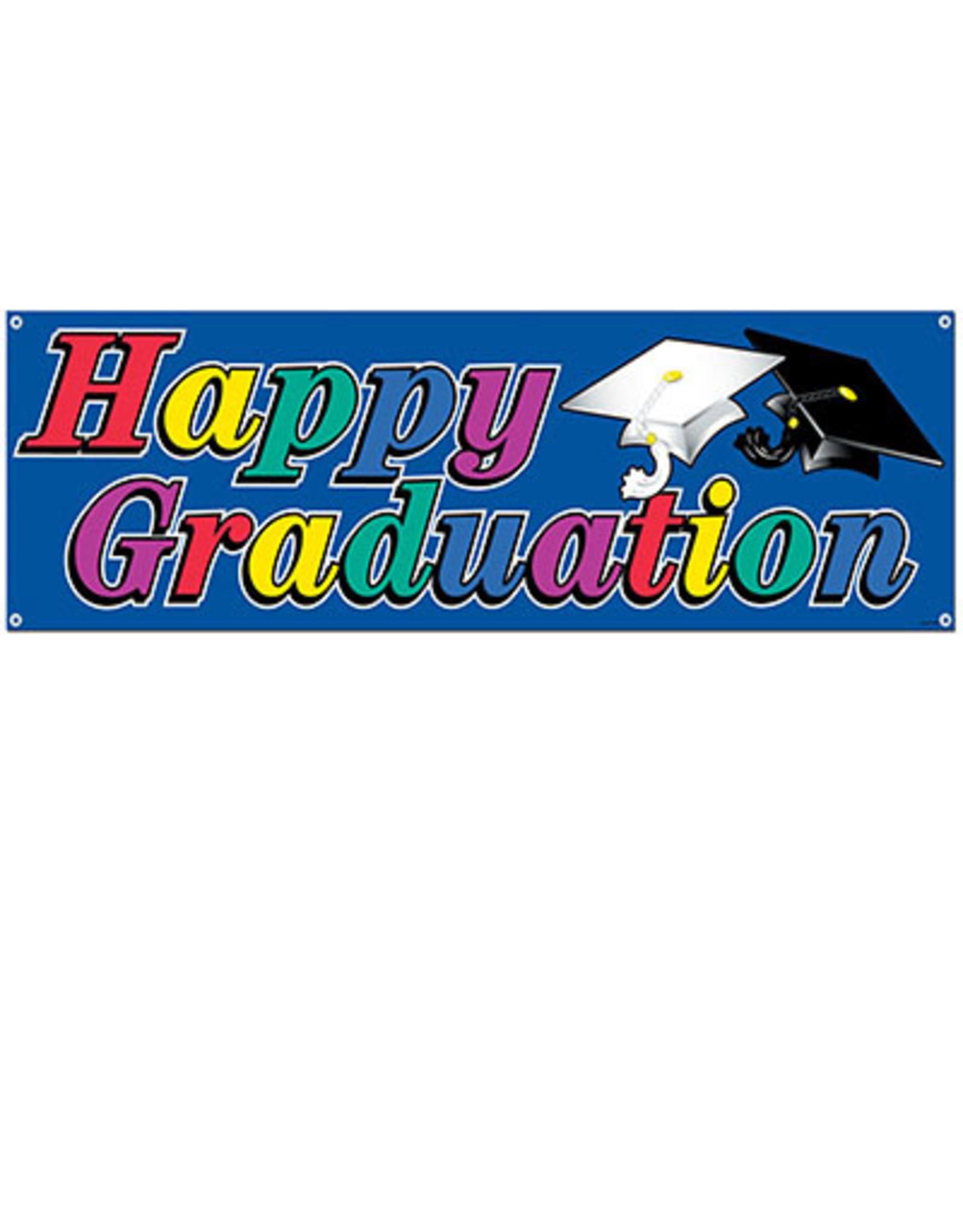 Beistle Happy Graduation Banner - 5ft.
