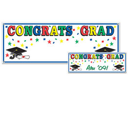 Beistle Congrats Grad Personalized Banner - 5ft.