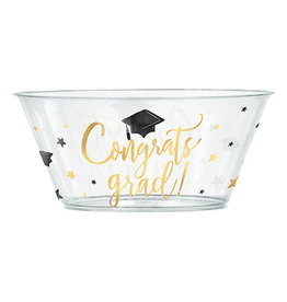 Amscan Congrats Grad Serving Bowl - 3.5L