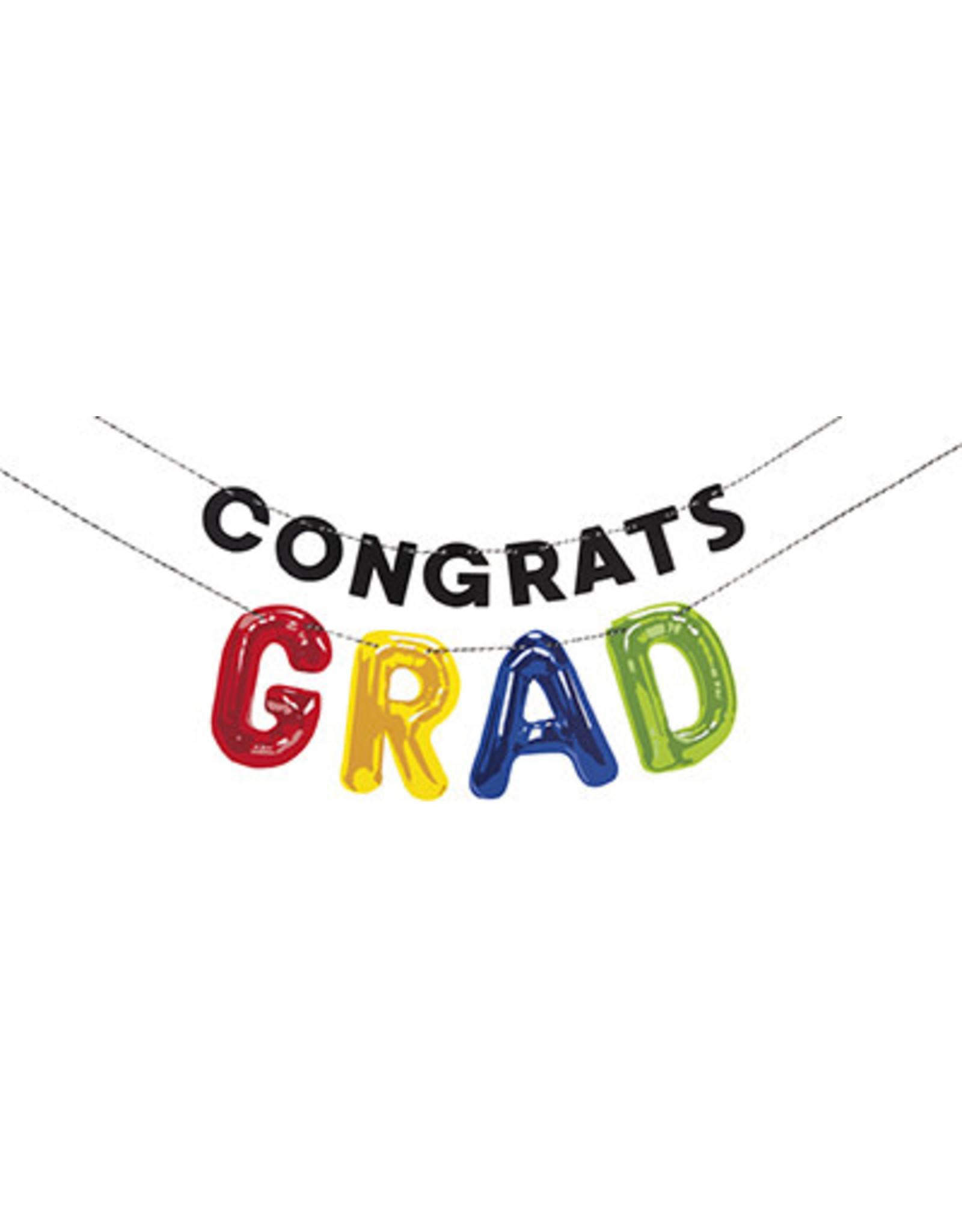 unique Congrats Grad Banner - 6ft.