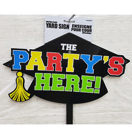 Amscan Graduation The Party's Here Lawn Sign