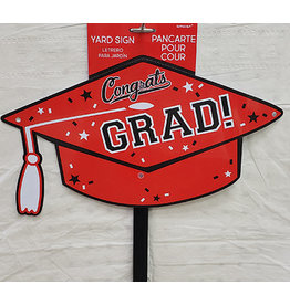 Amscan Red Grad Hat Lawn Sign