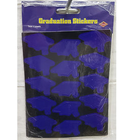 Beistle Blue Grad Cap Stickers - 60ct.