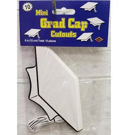 Beistle White Grad Cap Cutouts - 10ct.