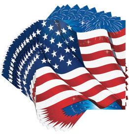 creative converting Fireworks and Flags Lun Naps - 16ct.