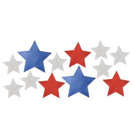 creative converting Glitter Patriotic Star Cutouts - 12ct.