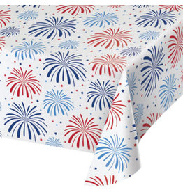 """creative converting Patriotic Fireworks Tablecover - 54"""" x 102"""""""