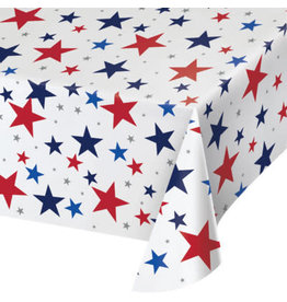 """creative converting Patriotic Stars Paper Tablecover - 54"""" x 102"""""""