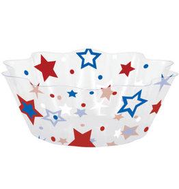 "creative converting Patriotic Stars Fluted Bowl - 8"""
