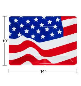 "creative converting Flag Tray 10"" x 14"""