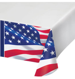 """creative converting American Flag Paper Tablecover - 54"""" x 102"""""""