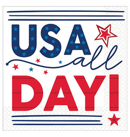Amscan USA All Day Lunch Napkins - 16ct.