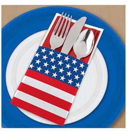 Amscan Patriotic Cutlery Holders - 12ct.