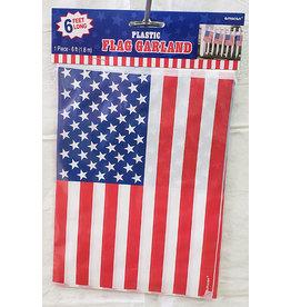 Amscan Patriotic Flag Garland - 6ft.