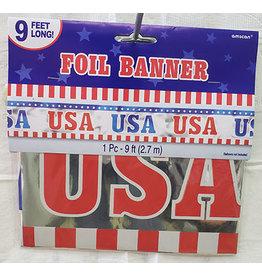 Amscan Patriotic Foil Banner - 9ft.